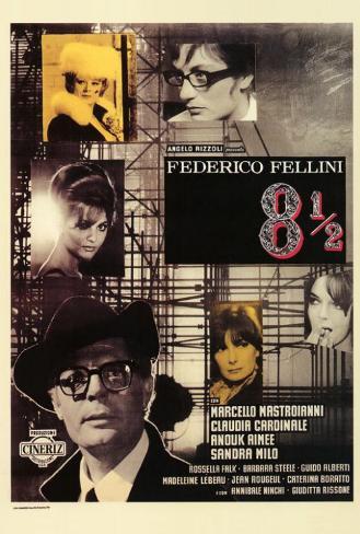 8 1/2 - Italian Style Poster