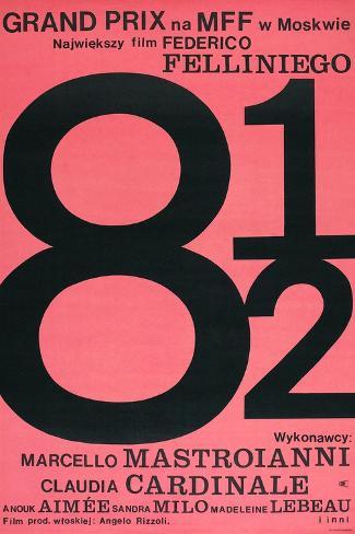 8 1/2, Polish poster, 1963 Art Print