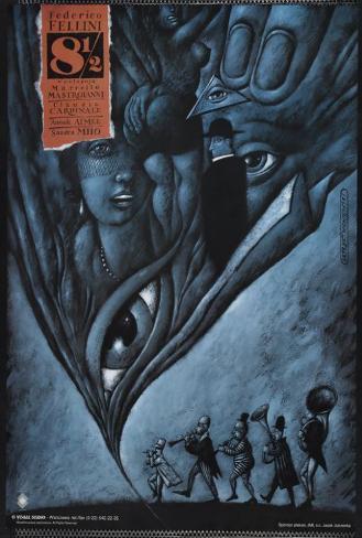 8 1/2 - Polish Style Poster