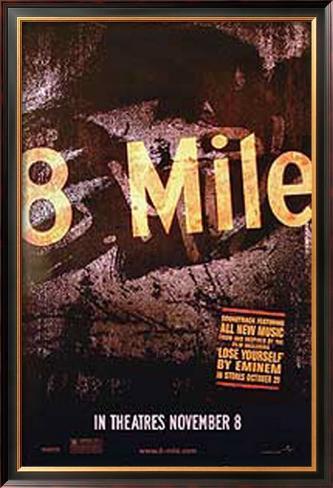 8 Mile: Rua das Ilusões Pôster emoldurado