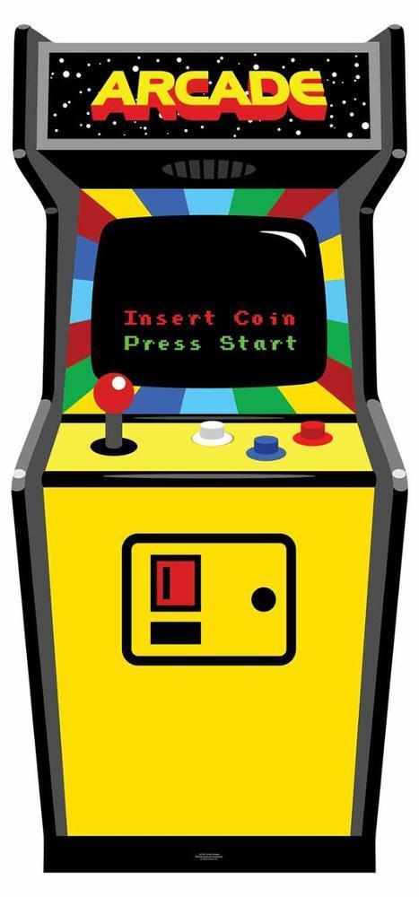 80\'s Colour Golden Age Video Arcade Game Figura de cartón en ...