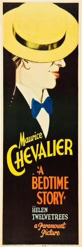 A Bedtime Story, Maurice Chevalier on U.S. insert poster, 1933 Impressão artística