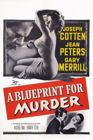 A Blueprint for Murder, Joseph Cotten, Jean Peters, 1953 Art Print