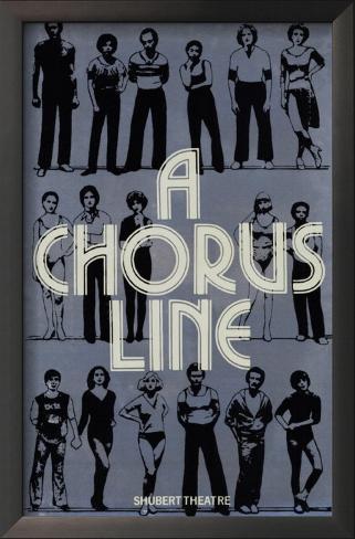 A Chorus Line Impressão artística emoldurada