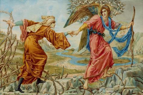 Love Leading the Pilgrim after Sir E. C. Burne-Jones, 1894 Lámina giclée