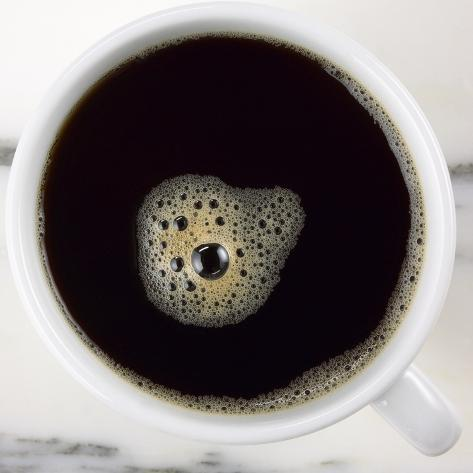 A Cup of Black Coffee Photographic Print