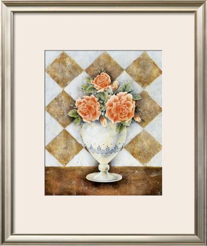 Vase of Roses Framed Art Print
