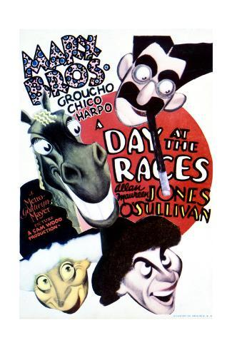 A Day at the Races - Movie Poster Reproduction Premium Giclee Print