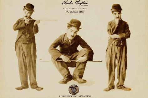 A Dog's Life, Charlie Chaplin Poster Print Poster