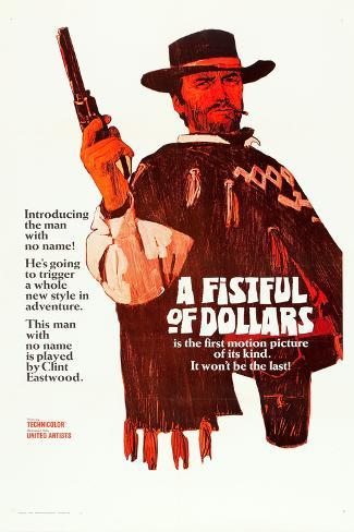 A Fistful of Dollars, Clint Eastwood, 1964 Poster