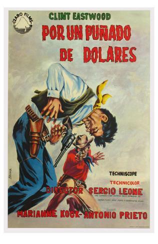 A Fistful of Dollars, Spanish Movie Poster, 1964 Masterprint
