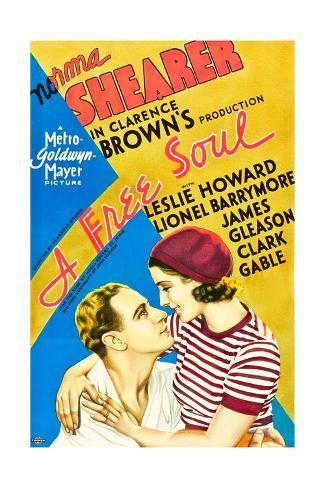 A Free Soul, Leslie Howard, Norma Shearer, 1931 Stampa artistica