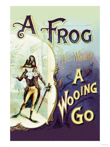 A Frog: A Wooing Go Art Print
