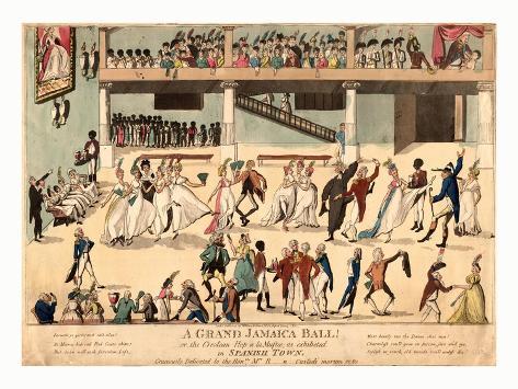 A Grand Jamaica Ball or the Creolean Hop a La Muftee Giclee Print