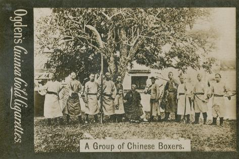 A Group of Chinese Boxers Photographic Print