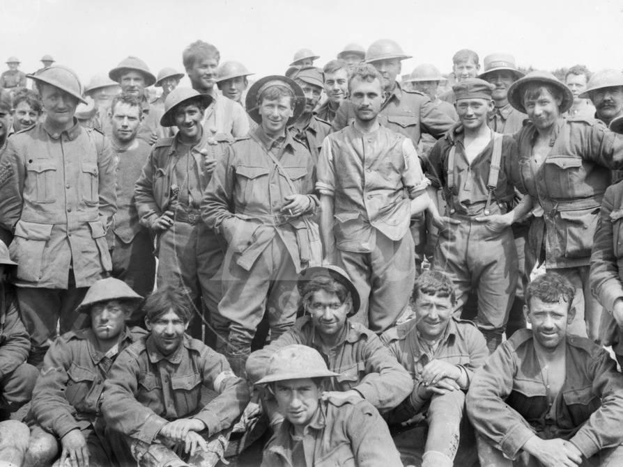 A Group Of The 46th Australian Infantry Battalion Just After Coming Out Line In Front Mon Photographic Print At AllPosters