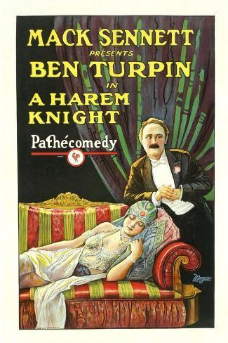 A Harem Knight, Ben Turpin, Madeline Hurlock, 1926 Art Print