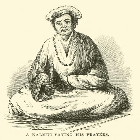 A Kalmuc Saying His Prayers Lámina giclée