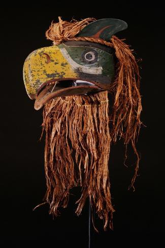 A Kwakiutl Thunderbird Mask, Red Cedar Stretched Canvas Print