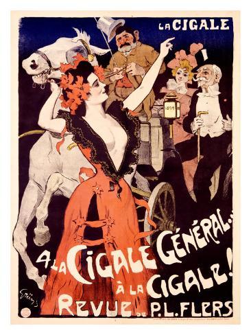 A la Cigale General Giclee Print