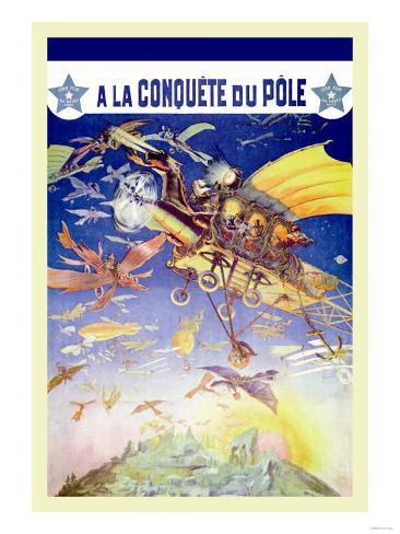 A La Conquete du Pole Konstprint