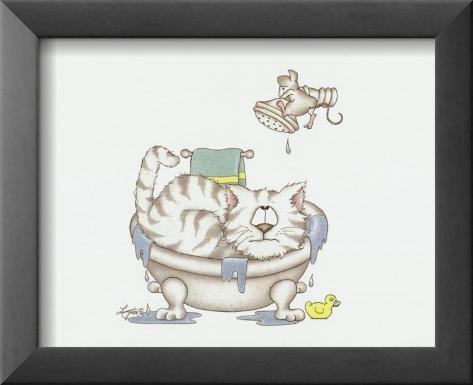 El cuarto de baño de los gatos IV Arte por A. Langston en AllPosters.es