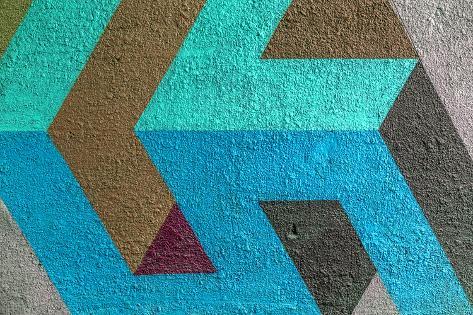 Beautiful Street Art Graffiti. Abstract Creative Drawing Fashion Colors on the Walls of the City. U Photographic Print