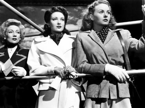 A Letter to Three Wives, Ann Sothern, Linda Darnell, Jeanne Crain, 1949 Stretched Canvas Print