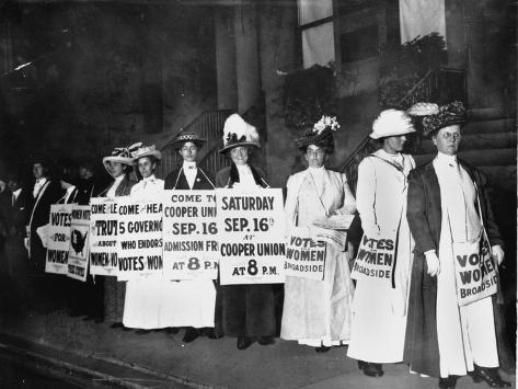 A Line of Women Rally for Women's Suffrage Photographic Print