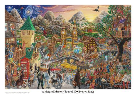 A Magical Mystery Tour (of 100 Beatles Songs) Poster