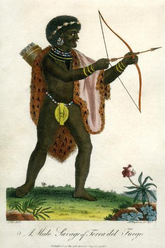 A Male Savage of Terra Del Fuego, 1795 Giclee Print