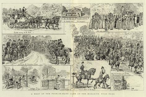 A Meet of the Four-In-Hand Club at the Magazine, Hyde Park Giclee Print