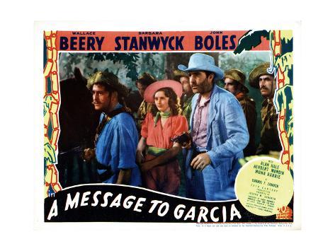 A Message to Garcia, Center, from Left, Barbara Stanwyck, John Boles, 1936 Gicléetryck
