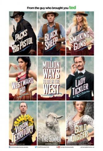 A Million Ways to Die in the West Double-sided poster