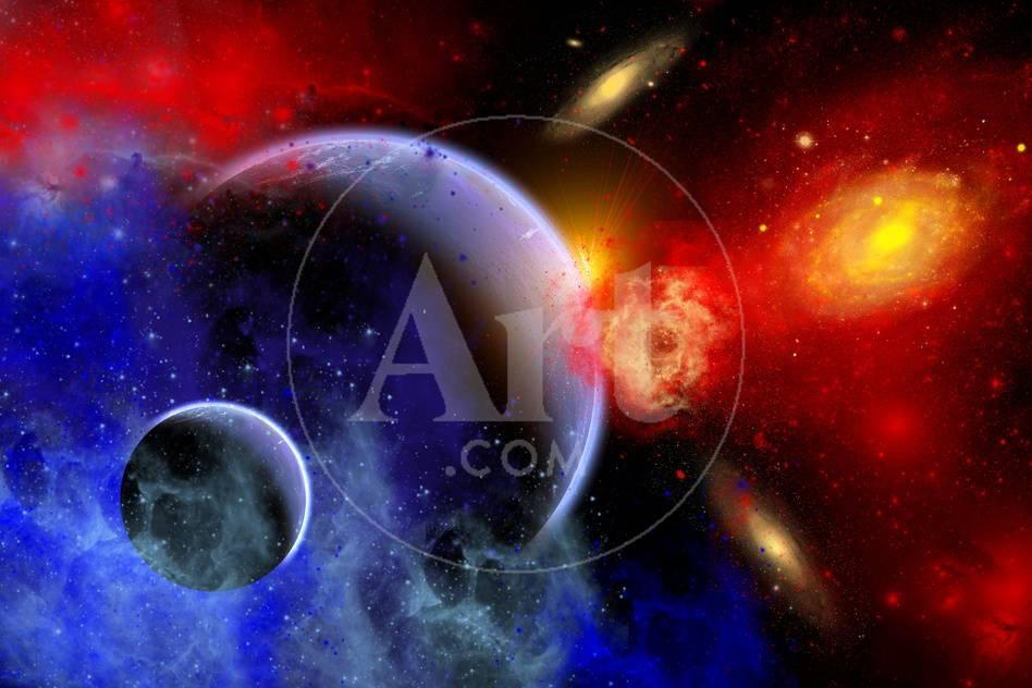 A Mixture Of Colorful Stars Planets Nebulae And Galaxies Posters Allposters Com