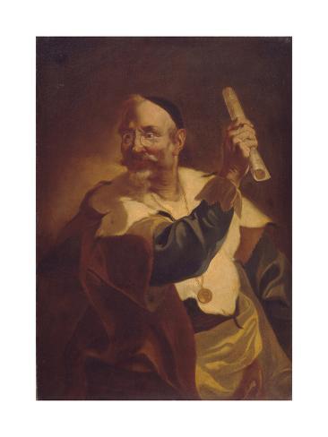A Musician, 18th Century Stampa giclée