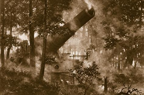 A New Union of Forest Giants, Mammoth French Howitzer Articulates the Will of France Stampa giclée
