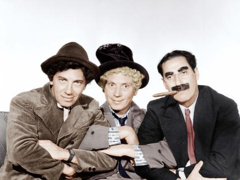 A Night at the Opera, Chico Marx, Harpo Marx, Groucho Marx, 1935 Foto