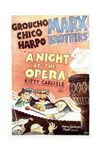 A Night at the Opera - Movie Poster Reproduction Premium Giclee Print
