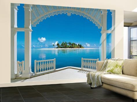 A Perfect Day Balcony Huge Wall Mural Art Print Poster Tapettijuliste