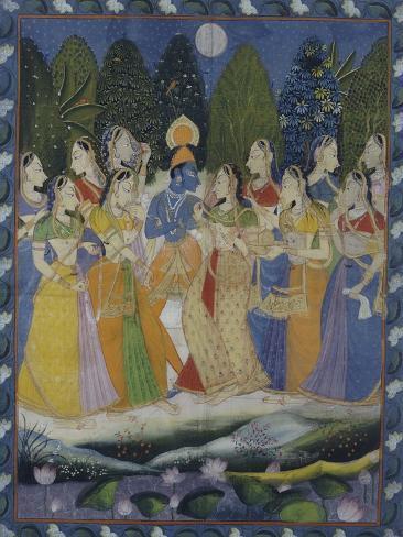 A Pichhavai of Krishna as Shrinthji, India, 19th Century Lámina giclée