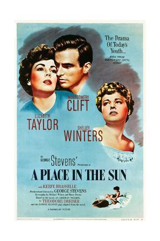 A Place in the Sun, 1951 Gicléetryck