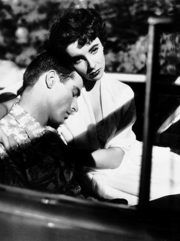A Place in the Sun, from Left, Montgomery Clift, Elizabeth Taylor, 1951 Photo