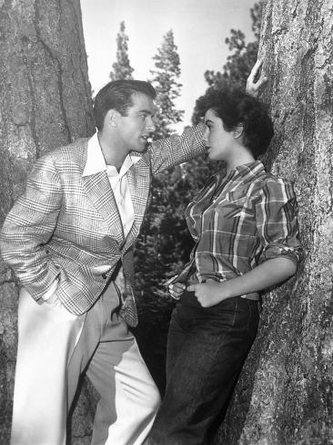 A Place in the Sun, Montgomery Clift, Elizabeth Taylor, 1951 Photo