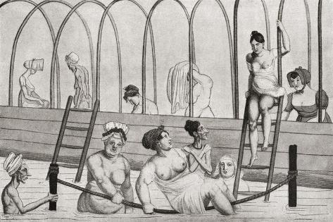 A Public Bath in France in the 19th Century. from Illustrierte Sittengeschichte Vom Mittelalter Bis Giclee Print