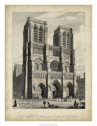 West Front-Notre Dame Giclee Print