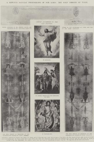 A Reputed Natural Photograph of Our Lord, the Holy Shroud of Turin Lámina giclée