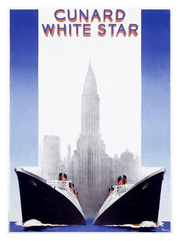 Cunard Line, White Star Giclee Print