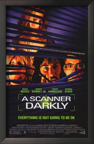 A Scanner Darkly Framed Art Print