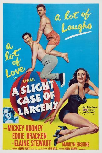 A Slight Case of Larceny, 1953 Art Print